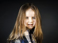 Cute little smiling girl close-up portrait Royalty Free Stock Photo