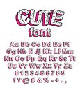 Cute lol doll surprise style font. Royalty Free Stock Photo