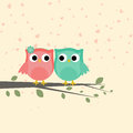 Cute love bird couple for Valentines Day.