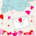 Cute love letter Stock Image