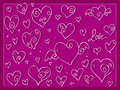 Cute love valentine day s hearts background Stock Image