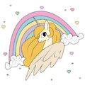 Cute magical unicorn,sweet kids graphics for t-shirts