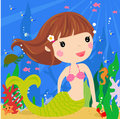 Cute mermaid Royalty Free Stock Photos