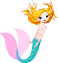 Cute mermaid illustration of swimming Royalty Free Stock Photography