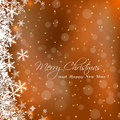 Cute merry christmas greeting card sample Stock Photography