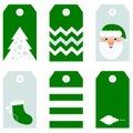 Cute modern Christmas holiday gift tags printables Royalty Free Stock Photo