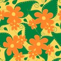 Cute floral pattern, hand drawn elements, colorful flowers and leaves. Garden theme vector seamless pattern.