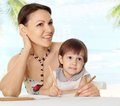 Cute mom with her baby Royalty Free Stock Photo
