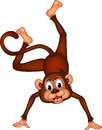 Cute monkey cartoon dancing Stock Photo