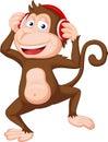 Cute monkey cartoon dancing Royalty Free Stock Photo