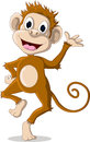 Cute monkey cartoon posing illustration of Stock Photo