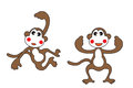 Cute monkey the clipart Stock Image