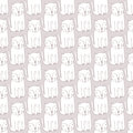 Seamless pattern cats and hearts, pink and mint pastel color.