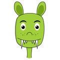 Cute Monster Cartoon Face