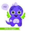 Cute monster, dragon, dinosaur cartoon