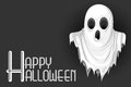Cute monster wishing happy halloween vector illustration of Royalty Free Stock Photo