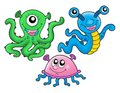 Cute monsters collection Royalty Free Stock Photo