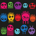 Cute monsters seamless pattern vector illustration Stock Photo