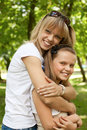 Cute mother and daughter Royalty Free Stock Photography