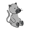Cute mouse baby toy icon Royalty Free Stock Photo