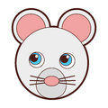 Cute mouse character icon