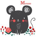 stock image of  Cute mouse graphic cartoon for kid art