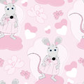 Cute mouse seamless pattern Stock Images