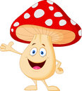 Cute mushroom cartoon illustration of Stock Photography