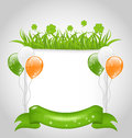 Cute nature background for st patrick s day illustration Stock Image