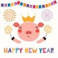 Cute new year pig