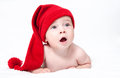 Cute newborn baby in a hat Stock Image