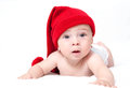 Cute newborn baby in a hat Royalty Free Stock Photo