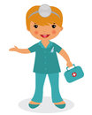 Cute nurse Stock Images