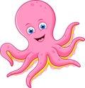 Roztomilý chobotnice návrh maľby
