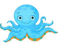Cute octopus illustration of cartoon Royalty Free Stock Image