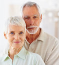 A cute old senior couple smiling confidently Royalty Free Stock Photography