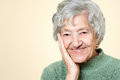 Cute old senior lady portrait Royalty Free Stock Photo