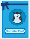 Cute owl card Royalty Free Stock Image