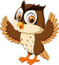 Cute owl cartoon illustration of Stock Images