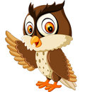 Cute owl cartoon illustration of Royalty Free Stock Photos