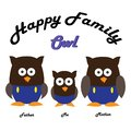 Cute owl character design. children`s cartoon owl theme