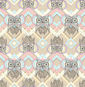 Cute owl seamless pattern Royalty Free Stock Images