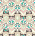 Cute owl seamless pattern with native elements Royalty Free Stock Photo