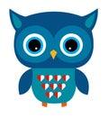 Cute Owl Vector Boy with Heart