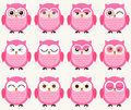 Cute owls set