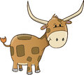Cute Ox Vector Stock Image