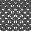 Cute Panda bear seamless pattern, black and white background. Vector illustration. Panda head and face. Design for wallpaper and f