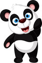 Cute panda cartoon for you design illustration of Royalty Free Stock Photography