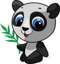 Cute panda  illustration Stock Image
