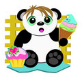 Cute Panda Who Loves Sweets Stock Photo